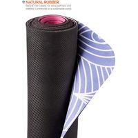 Anti slip Yoga Pilates Gymnastics Mat with Carrying Strap - 2 in 1 Mat and Towel - Natural Rubber Ec thumbnail image
