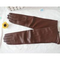 Women long leather gloves warm in winter fashion dressing gloves