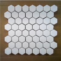 Excellent Wear Resistance 92% Alumina Hexagone Ceramic Mosaic Tile / Lining Mat