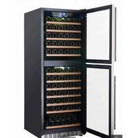 Newest double doors wine cooler adjustable temperature wine fridge loading with 133