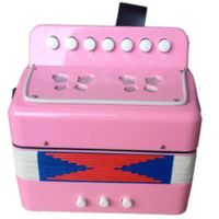 kids 7 key 2 bass musical button toy accordion for sale thumbnail image