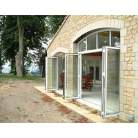 New design aluminium alloy folding doors in the garden