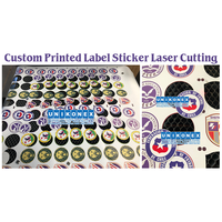 Custom Printed Label Sticker by Laser Cutting