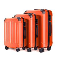 trolley case luggage travel bags and hard suitcase ABS PC carry on luggage thumbnail image