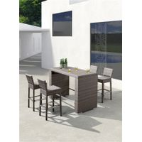 haomei outdoor bar table and chair set