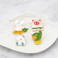 Cartoon Cute Animal Hard Enamel Mini Metal Badge
