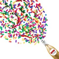 Boomwow New Design 100% Biodegradable Champagne Bottle Confetti Cannon thumbnail image