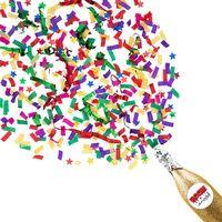 Boomwow New Design 100% Biodegradable Champagne Bottle Confetti Cannon