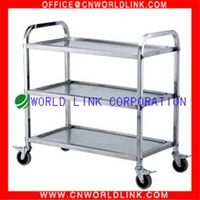stainless steel hotel food service cart