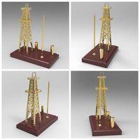 Diecast Oil Rig Derrick Model with Pen Holder thumbnail image