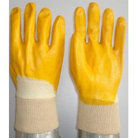 Yellow Nitrile coated/dipped glove  GSN2410