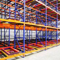 Warehouse layout-Jracking high density push back pallet racking system