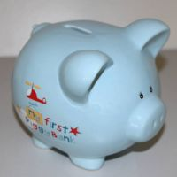 Lovely blue Pig Ceramic Money Saving Bank