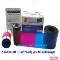 Datacard Ribbon 534000-004 ymcKT half panel Datacard SD260 SD360 Card Printer thumbnail image