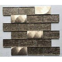 bathroom strip glass mosaic tile with factory price for prefab homes