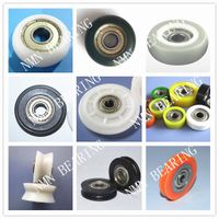 plastic pulley with bearing insert, ball bearing with plastic injection