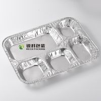 Food Grade 5-Compartment Alufoil Tray for Restaurant thumbnail image