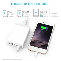 6 port usb charger/6 usb charger/50 watt 6 port usb desktop rapid charger thumbnail image