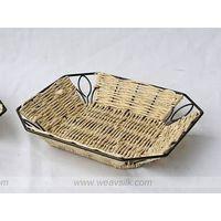 rattan serving tray, wicker tray