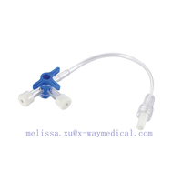 Steriled IV I.V. Infusion set extension tube with three way stopcock, Large bore connection tube