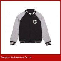 Custom Men's Cotton Hoodie Baseball Varsity Jacket in different colors thumbnail image