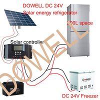 200L DC solar refrigerator 24V