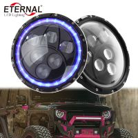 "7"" headlight 60W led headlamp PAR56 for Wrangler JK TJ LJ dual sealed beam with halo ring headlight"