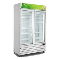 -18~ -23C Supermarket 2 glass doors upright freezer Ice cream display freezer thumbnail image