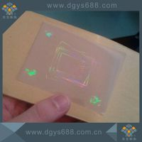 Transparent hologram lamination overlay film