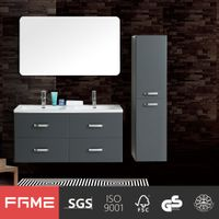 2017 Fame Modern Wholesale High Gloss Painting Grey Bathroom Cabinets With DTC handware