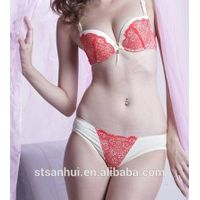 Hot sale elegant young ladies sexy panty and bra sets