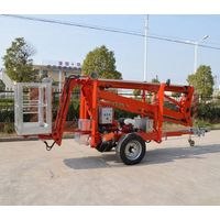Articulated trailer mounted boom lift