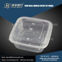 environmental protection disposable rectangle lunch box mould