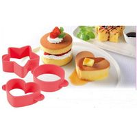 New Brand Hot Popular Useful Silicone Cake Decoration Heart, Star and Round Cake Cutter Mold thumbnail image