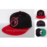 Custom Cotton Snapback Hat with flat embroidery logo