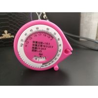 Mini pink color health plastic tape measures for gift