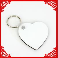 Sublimation blank MDF key ring sublimation key chain heat transfer key ring