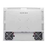 industrial cooling fan touch monitor with infrared multi touch screen and hdmi dp1500ints brightness thumbnail image