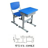 student desk and chair/metal wooden school furniture thumbnail image