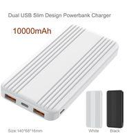 Dual usb port slim power banks charger 10000mAh