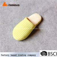 Handmade European style pvc hard sole indoor soft slippers women indoor slippers for adults