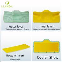 Therapeutic Memory Foam Sleep Pillow, Slow Rebound Visco Memory Foam Side Sleeping Pillow thumbnail image