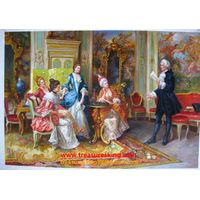 Palace canvas oil painting 100% hand printed music playing wall arts ,home ,sitting room decoration