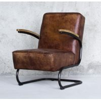 Vintage Leather Leisure Chair for Living Room