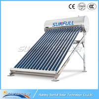 2019 new design non pressure stainless steel solar water heater