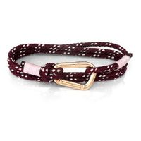 The Carabiner - Red Mountain Triple Lap - Pink Gold Plated