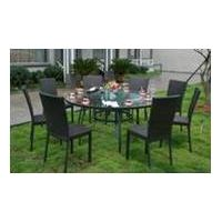 Customized Design Rattan Dining With Overal Table
