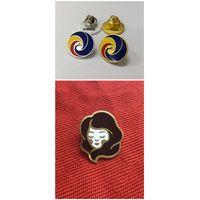 Custom hard enamel girl pin 18k gold plating free artwork design