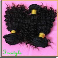 Malaysian virgin remy human hair weaves deep wave kinly curly weaves