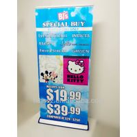 Rolling up outdoor advertising aluminium profile banner stand HS-KT01